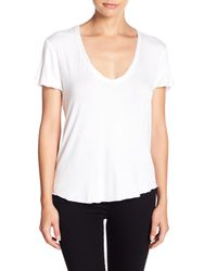 Project Social T - White Twist Neck Tee - Lyst