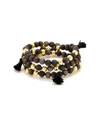 Gorjana - Metallic Hannah Druzy Tassel Wrap Bracelet - Lyst