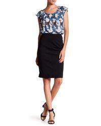 Joe Fresh - Black Ponte Knit Pencil Skirt - Lyst
