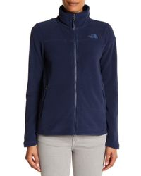 The North Face | Blue Long Sleeve Zip Jacket | Lyst