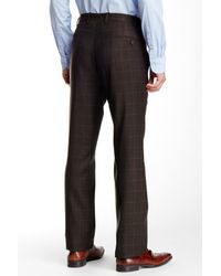 JB Britches - Black Torino Flat Front Windowpane Trousers for Men - Lyst