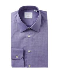 Smyth & Gibson - Purple Dobby Print Tailored Fit Dress Shirt for Men - Lyst