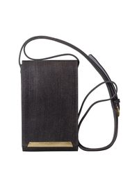 Most Wanted Usa - Gray Cellphone & Card Holder Crossbody Bag - Lyst