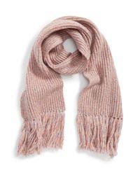 Rag & Bone - Pink Devin Wool Blend Scarf - Lyst