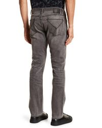 John Varvatos - Gray Bowery Slim Straight Jean for Men - Lyst