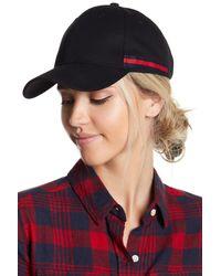 Steve Madden - Black Striped Baseball Hat - Lyst