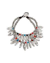 Uno De 50 - Multicolor Peace Pipe Double Strand Petal Bracelet - Lyst