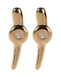 Kenneth Cole - Multicolor Gold Plated Diamond Detail Dot & Stick Earrings - 0.06 Ctw - Lyst