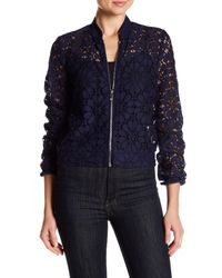Laundry by Shelli Segal | Blue Peek Lace Jacket | Lyst