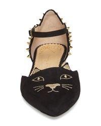 Charlotte Olympia - Black Mid Century Kitty D'orsay Flat - Lyst