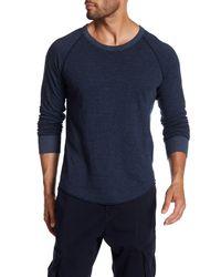 Save Khaki - Blue Stripe Pointelle Raglan Crew Neck Tee for Men - Lyst