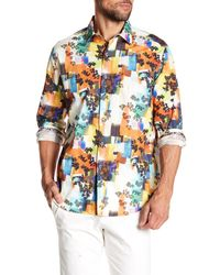 Robert Graham - Blue Burlingame Classic Fit Print Woven Shirt for Men - Lyst