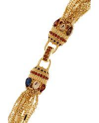 Carolee | Metallic Multi-strand Embellished Clasp Necklace | Lyst