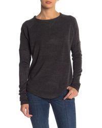 Sweet Romeo - Gray Solid Raglan Sweater - Lyst