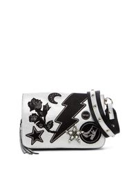 Steve Madden - Metallic Patchwork Embellished Crossbody Bag - Lyst