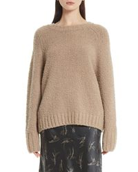 Vince - Natural Saddle Sleeve Wool Sweater - Lyst