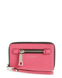 Marc Jacobs   Red Gotham Leather Phone Wallet   Lyst