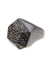 Ariella Collection - Multicolor Geometric Pave Ring - Lyst