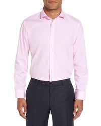 Calibrate - Pink Extra Trim Fit Stretch No-iron Dress Shirt for Men - Lyst