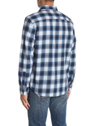 Calvin Klein - Blue Carson Long Sleeve Plaid Shirt for Men - Lyst