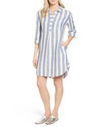 Caslon - Blue Linen Shirt Dress - Lyst