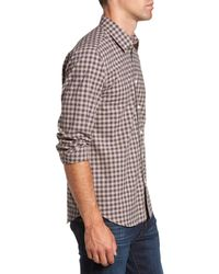 Jeremy Argyle Nyc - Brown Comfort Fit Plaid Sport Shirt for Men - Lyst