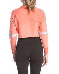 Lime & Vine Pink Adara Cropped Crew Neck Sweatshirt