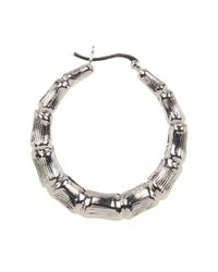 Argento Vivo - Metallic Bamboo Textured 45mm Hoop Earrings - Lyst
