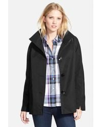 Ellen Tracy | Black Stand Collar A-line Jacket | Lyst