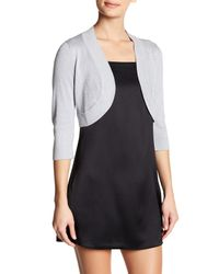 Eliza J - Metallic Shimmer Cover-up Cardigan - Lyst