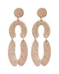 Shashi | Metallic Eva Drop Earrings | Lyst