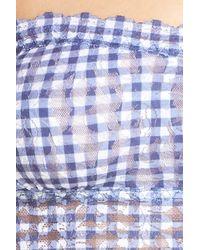 Hanky Panky | Blue Check Please Bandeau Bralette | Lyst