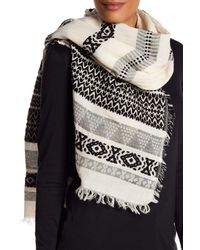 Shiraleah - Black Zoe Knit Wrap Scarf - Lyst