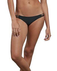 Volcom - Black Simply Solid Macrame Bikini Bottoms - Lyst