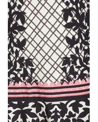 Eliza J - Black Lace Trim Shift Dress - Lyst