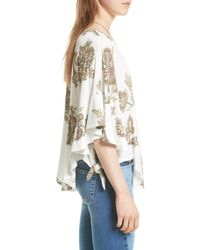 Urban Outfitters - White Maui Wowie Palm Print Shirt - Lyst
