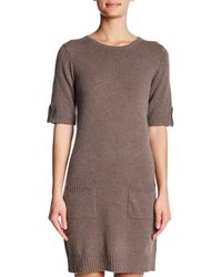 Philosophy Apparel - Multicolor Elbow Epaulet Sleeve Cashmere Sweater Dress - Lyst