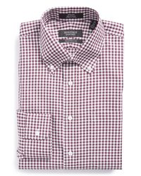Nordstrom - Purple Traditional Fit Non-iron Check Dress Shirt for Men - Lyst