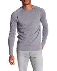 Helmut Lang - Gray Fine Wool Crew Neck Pullover for Men - Lyst