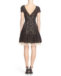 Eliza J - Black Lace Fit & Flare Dress - Lyst