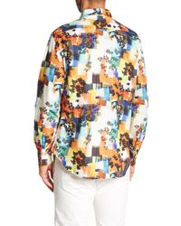 Robert Graham - Blue Burlingame Classic Fit Print Woven Shirt for Men - Lyst