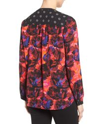 NYDJ - Multicolor Long Sleeve Mix Print Blouse - Lyst