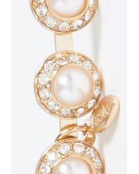 Tasha - Metallic Dome Imitation Pearl Headband - Lyst