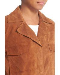 Vince - Multicolor Suede Jean Moto Jacket - Lyst