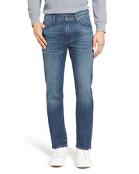 7 For All Mankind - Blue Slimmy Straight Leg Jeans for Men - Lyst