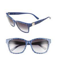 MCM - Blue Visetos 59mm Retro Sunglasses for Men - Lyst