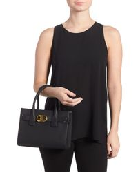 Tory Burch - Black Small Gemini Link Leather Tote - Lyst