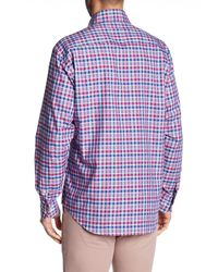 Robert Talbott - Blue 'crespi' Tailored Fit Check Sport Shirt for Men - Lyst