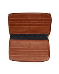 Steve Madden - Gray Zip Around Travel Wallet - Lyst