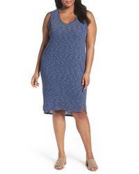 Caslon - Blue Caslon Shirttail Tank Dress - Lyst